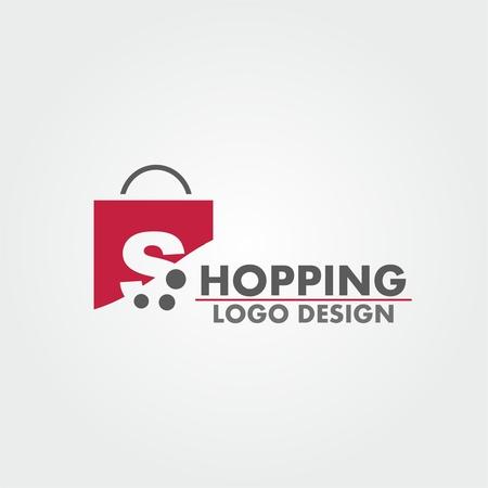 Abstract letter S on shopping bag. Abstract shopping logo. Online shop logo. Banco de Imagens - 75620077