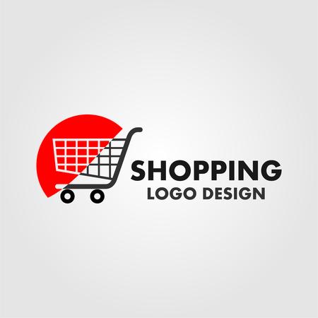 Shopping logo. Shopping cart logo. Online shop logo Vectores