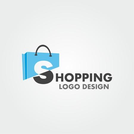 Einkaufslogo. Einkaufswagen logo. Online-Shop-Logo