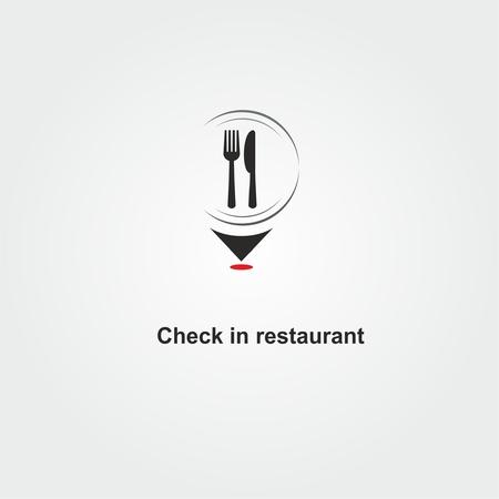 Check in restaurant logo design