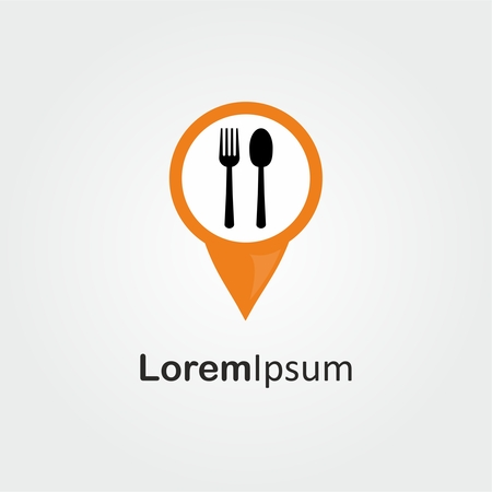 Check in Restaurant logo with spoon and fork