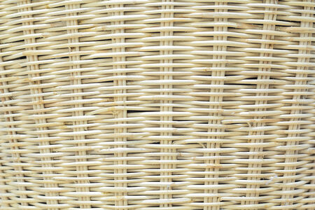 Wooden weave of wicker basket background