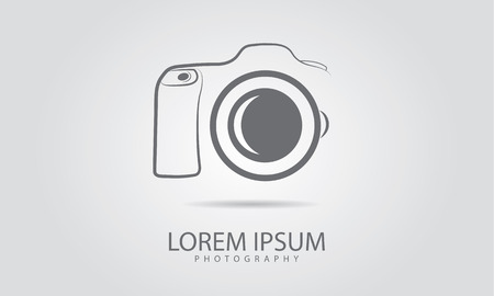 photo camera: Camera icon design Illustration