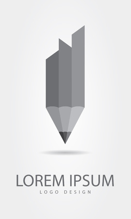 education technology: pencil symbol icon template Illustration