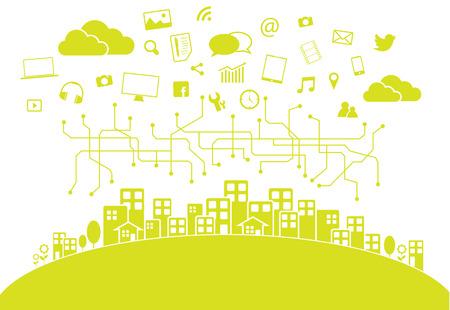 interaccion social: Medios de comunicaci�n social de la ciudad