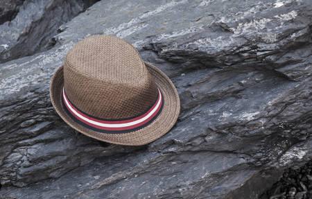 head stones: hat on the rock