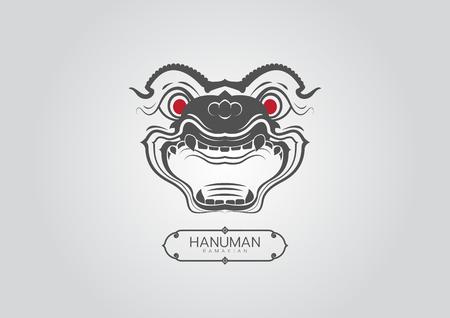 Thai Art Ramayana hanuman-monkey styethai vector laithai Illusztráció
