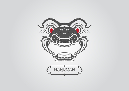 Thai Art Ramayana hanuman-monkey styethai vector laithai Ilustração
