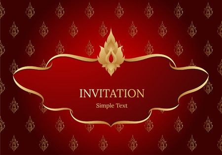 gold textured background: Asian traditional art Design Vector, Thai traditional design, thai background