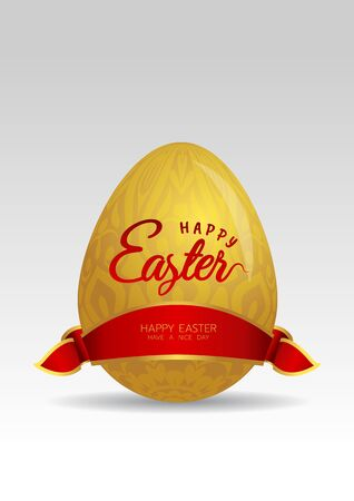 gold easter egg with ribbon