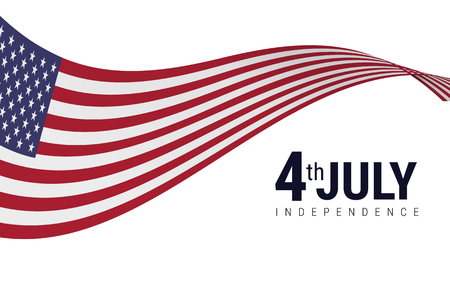 American Flag with American independence day 4th july