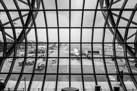samut prakan: Airport TerminalSuvarnabhumi Airport - Samut Prakan, Thailand Stock Photo