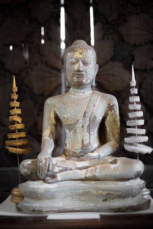 thani: The Antique Buddha Statue - Surat Thani, Thailand Stock Photo