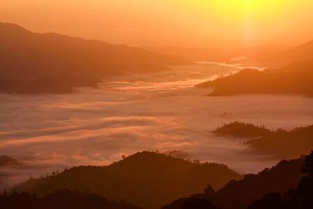 soft peak: Sea of mist in Huai Nam Dang National Park - Chiang Mai, Thailand