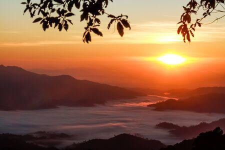 gloaming: Sea of mist in Huai Nam Dang National Park - Chiang Mai, Thailand