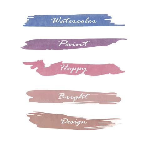 light pink: Light pink blue paint banner. Illustration