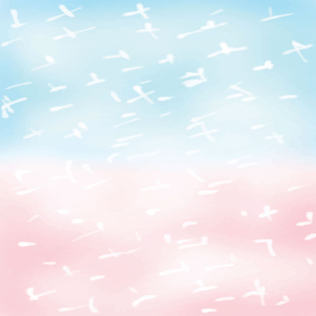 pastel: Light white pink blue love pastel background in christmas winter Illustration
