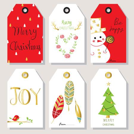 osos navideños: Luz verde del amor del oro tarjeta de felicitación de la Navidad roja con corona de plumas y el corazón Vectores
