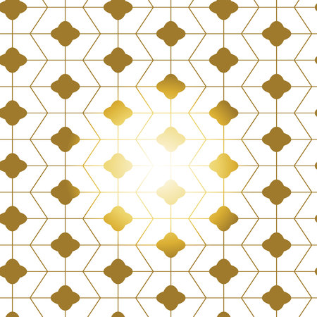 Gold white seamless geometric chinese pattern