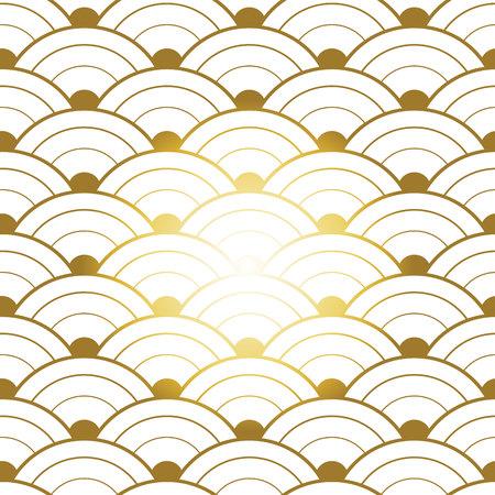 Rood goud seamless chinese pattern Stock Illustratie