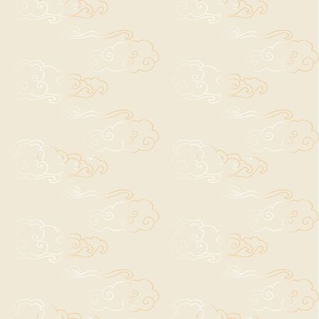Red gold seamless chinese pattern