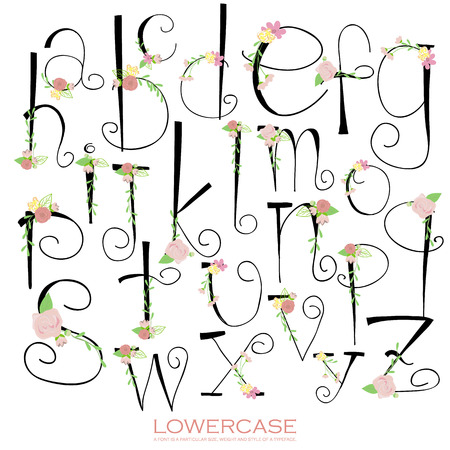 font alphabet: Black pink green colorful chalk pencil alphabet letters.Hand drawn written Illustration