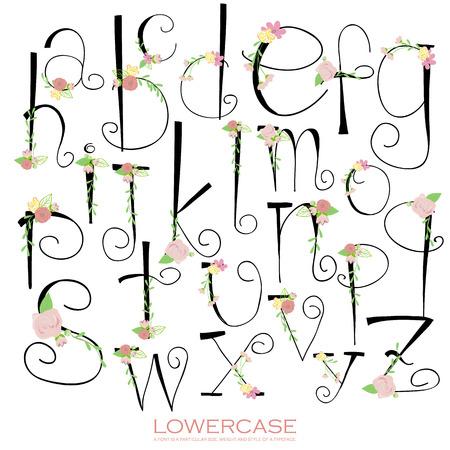 tipos de letras: Negro colorido verde tiza alfabeto l�piz letters.Hand elaborado rosa escrito