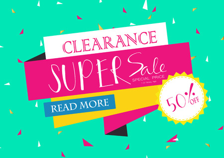 green yellow: Light pink green yellow red paper banner Illustration