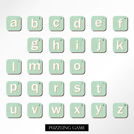 puzzling: White blue brown number font Illustration