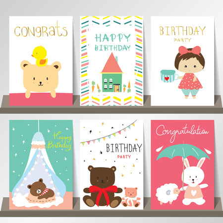 duck green: Light green pink collection for banners, Flyers, Placards with sheep,rabbit,girl,bear and duck