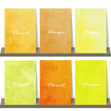 Light orange yellow love pastel background in vintage summer