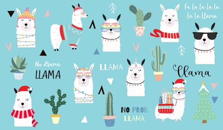 Cute animal object collection, Animal vector illustration set