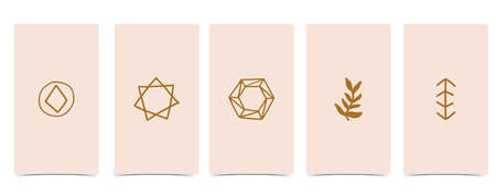 Cute background for social media.Set of story with diamond,shape Иллюстрация