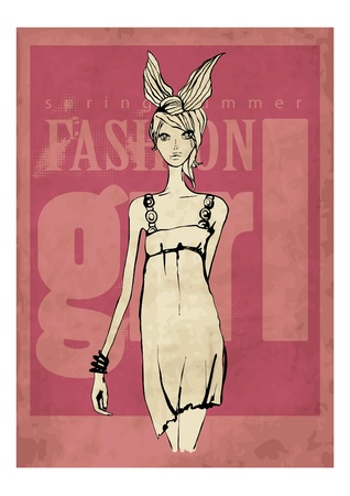 hot sexy girls: illustration fashion woman