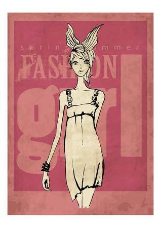 gladness: illustration fashion woman