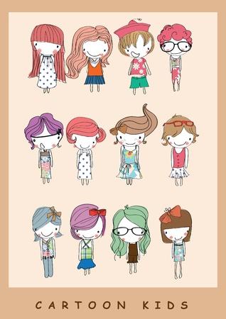 illustration cartoon children Ilustracja