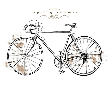 illustration vintage bicycle Stock Vector - 9638749