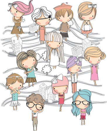 rysunek dziecko ilustracja ustawiony w tle