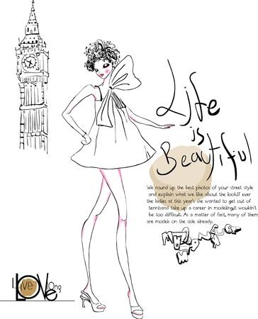 elation: london-girl Illustration