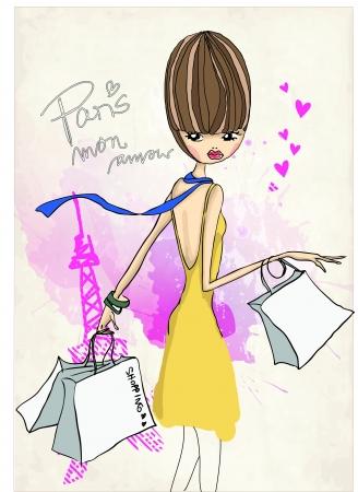 elation: shoppinggirl5 Illustration