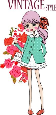 styl vintage dziewczyna