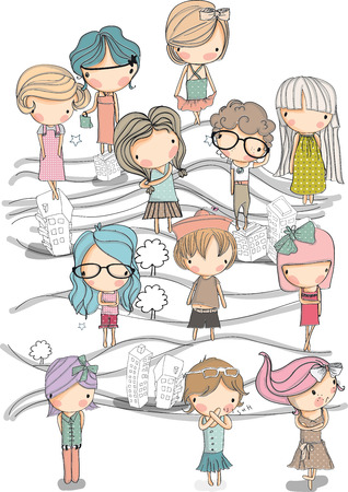 kids set  2  Vector