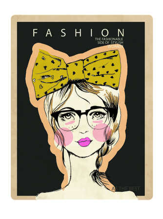 pretty teenage girl: portre Illustration