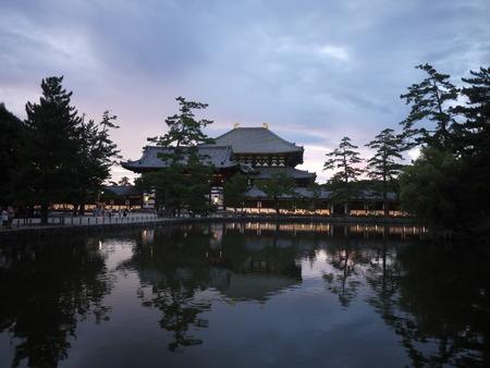 todaiji: Sunset view of Todaiji Temple in Nara