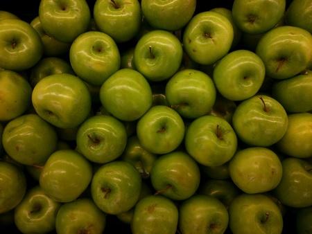 closeup: Closeup of fresh green Apple Stock Photo