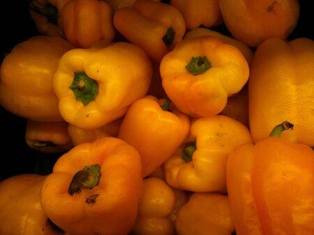 closeup: Closeup of fresh yellow pepper