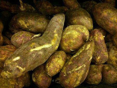 closeup: Closeup of a group of sweet potatoes
