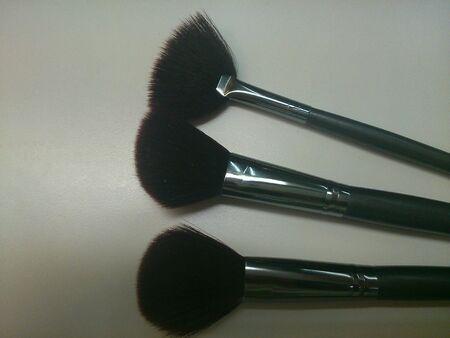 make up brushes: Close up Various type of Make up brushes Stock Photo