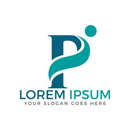 Letter P adoption and community care logo design. Illustration