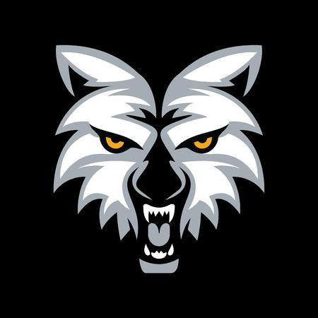 Wolf head mascot vector design.  イラスト・ベクター素材